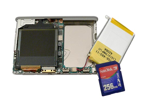sony network hdd walkman nw-hd3 - inner construction