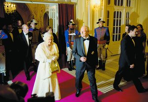 Queen Elizabeth II at the Presidential Palace